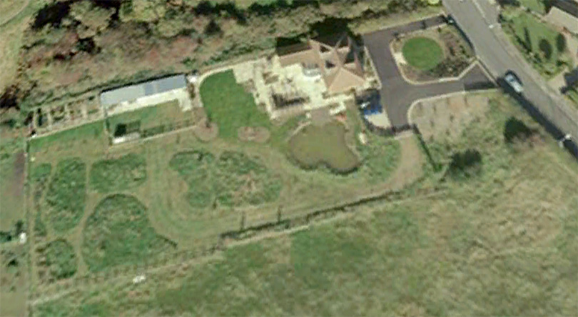 Google map of Bracken House and gardens - 31/12/10